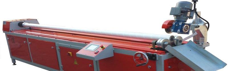 Paper tube re-cutter machine